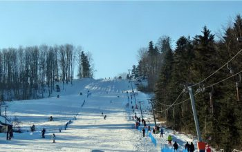 катание на лыжах