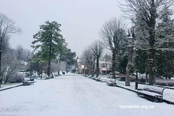 зима на курорте