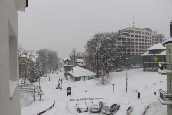 зима в Трускавце